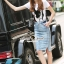 Seoul Secret Say's... Doggy Sequinny Chic Denim Skirt Set thumbnail 2
