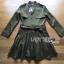 Lady Ribbon's Made Lady Eva Military Inspired Pleated Shirt Dress สีเขียวขี้ม้า thumbnail 5