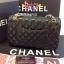 Chanel classic 10นิ้ว สีดำ หนังLampskin thumbnail 4