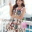 Lady Ribbon's Made Lady Jessica Super Cute and Sweet Owl Embroidered Dress สีครีม thumbnail 1