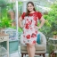 3 Size= XL,3XL,5XL ชุดเดรสสาวอวบ++ผ้า Korea Print จุดเด่นของชุดนี้อยู่ที่ลวดลายบนผ้า พื้นขาวลายกุหลาบแดง thumbnail 7