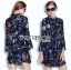 Lady Ribbon's Made Lady Caroline Funny Space Odyssey Printed Shirt Dress thumbnail 4