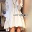 Lady Ribbon's Made Lady Jane Feminine Asymmetric Peplum Cotton Shirt Dress สีขาว thumbnail 2