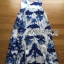 Lady Grace Sexy Elegant White and Blue Printed Cut-Out Back Maxi Dress thumbnail 8
