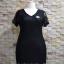 ชุดดำพร้อมส่ง สำหรับสาวอวบ++ F 36-43 นิ้ว T5109 thumbnail 5