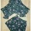 Sweet Bunny Present... Romantic Bloom Tea Shorts Set With Belt สีเขียว thumbnail 5