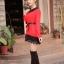 เสื้อแฟชั่น แขนยาว สีดำ รหัส 43936-แดง thumbnail 3
