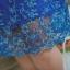 3 Size= ,2XL,3XL,4XL, ชุดเดรสสาวอวบ++ ผ้าชีฟองฉลุลายสีน้ำเงิน นำเข้าจากญี่ปุ่น แขนชีฟองระบาย 2 ชั้น thumbnail 15