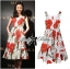 Lady Ribbon's Made Lady Lauren Colourful Polka Dots Red Flower Printed Dress thumbnail 3
