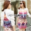 Lady Ribbon's Made Lady Victoria Colourful Mixed Floral Printed Satin Shirt Dress thumbnail 4
