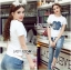 Lady Ribbon's Made Lady Coco Camellia Denim Embroidered T-Shirt and Skinny Jeans Set thumbnail 2