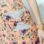 XL777ชุดเดรสผ้า Canvas พื้นส้มลายดอก แต่งปก กระเป๋า ติดโบว์ ผ้าสีขาว เพิ่มความน่ารักให้กับชุด thumbnail 7