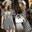 Lady Ribbon's Made Dolce & Gabbana Mini Yellow Embroidered Striped Dress thumbnail 1