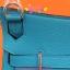 HERMES JYSPSIERE 28 SHOULDER BAG สีฟ้า thumbnail 3