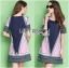 Lady Ribbon's Made Lady Elaine Minimal Graphic Line Printed Cotton&Polyester Dress thumbnail 3