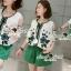Seoul Secret Say's .... Bohe Sweety Bloom Stickly Set สีเขียว thumbnail 4