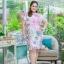 5XL ชุดเดรสสาวอวบ++ผ้าkorea print ทอลายดอกโทนสีชมพู จุดเด่นของชุดนี้ ดีไซน์กั๊กสุดเก๋ ติดโบว์ thumbnail 4