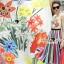 Seoul Secret Say's... Lollita Pleatly Color Flora Print Dress thumbnail 5