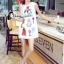 Cliona made' Happy Family Garden Party Dress สีขาว thumbnail 1