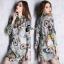 ClioNa made' Nadia Colorful Long Shirt Dress thumbnail 2