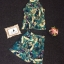 Korea Design By Lavida green leaf printed sleeveless top short pants beautiful set thumbnail 6