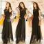 Cliona made'Princess Miyakey Luxury Dress B&W สีดำ thumbnail 3