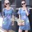 Dress jeans print stars dress Korea by Aris Code thumbnail 4