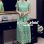 Seoul Secret Say's... Luxy Princess Lace Maxi Dress สีเขียว thumbnail 4