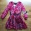 Lady Ribbon's Made Lady Estelle Summery Colourful Printed Chiffon Dress thumbnail 5