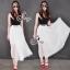 Sevy Moshino Pleat Chiffon Long Skirt thumbnail 3