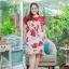 3 Size= XL,3XL,5XL ชุดเดรสสาวอวบ++ผ้า Korea Print จุดเด่นของชุดนี้อยู่ที่ลวดลายบนผ้า พื้นขาวลายกุหลาบแดง thumbnail 13