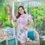 5XL ชุดเดรสสาวอวบ++ผ้าkorea print ทอลายดอกโทนสีชมพู จุดเด่นของชุดนี้ ดีไซน์กั๊กสุดเก๋ ติดโบว์ thumbnail 9