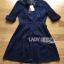Lady Ribbon's Made Lady Jenette Smart Sexy Insert Lace Denim Shirt Dress thumbnail 5