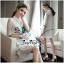 Luxurious White Silk Embroidered Shirt Dress thumbnail 2