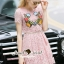 Seoul Secret Say's... Salmon Pink Lace Chic Bloom Stick Dress thumbnail 2
