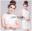 Lady Ribbon's Made Lady Christine Little Daisy Embroidered White Lace Mini Dress thumbnail 3