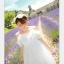44907-ขาว ชุดเดรสสั้นสีขาว หน้าอกเย็บระบาย สวยเก๋ เปิดไหล่ สวยหวาน thumbnail 6