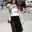 Lady Ribbon's Made Lady Laura Casual Nature Embroidered Cropped Top and Culottes Set thumbnail 1