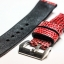 Metal Red Genuine Leather Back Lizard Leather Watch Strap Pam Buckle 24 mm thumbnail 6