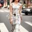 Seoul Secret Say's... Nifty Table Knity Dress สีขาว thumbnail 1