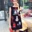 Cliona made' Happy Family Garden Party Dress สีดำ thumbnail 1