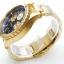 นาฬิกา NIXON Men Chronograph Chronograph Blue Gold Dails Watch A4861922 48-20 thumbnail 3