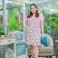 3 Size= XL,3XL,5XL ชุดเดรสสาวอวบ++ผ้า Sanfox พื้นขาว ทอลายดอกชมพู จุดเด่นของชุดนี้ตัดต่อด้านบน และแขนด้วยผ้า Hanako สีชมพู thumbnail 12