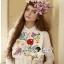 Seoul Secret Say's.. Nappy Color Bloosom Dress Shirt thumbnail 1