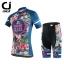 พร้อมส่ง >> ชุดปั่นจักรยาน New 2016 รุ่นใหม่ล่าสุด CJ ชุดขี่จักรยาน คุณภาพดี ลายดอกไม้น้ำเงิน thumbnail 1