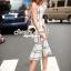 Seoul Secret Say's... Nifty Table Knity Dress สีขาว thumbnail 2