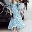 Cliona Made' Provence Floral Line Long Dress thumbnail 1