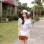Korean ethnic stitching lace mini dress thumbnail 1
