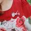 3 Size= XL,3XL,5XL ชุดเดรสสาวอวบ++ผ้า Korea Print จุดเด่นของชุดนี้อยู่ที่ลวดลายบนผ้า พื้นขาวลายกุหลาบแดง thumbnail 18