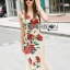 Lady Ribbon's Made Lady Monique Sophisticated Red Roses Printed Peplum Dress thumbnail 1